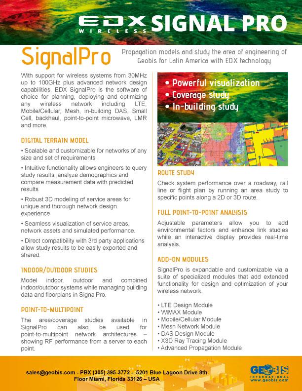 EDX For Propagation Analysis - Geobis International